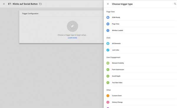 Trigger im Google Tag Manager
