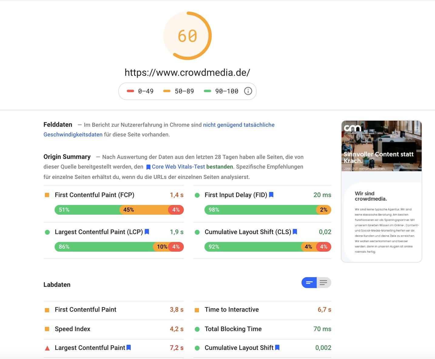 Kostenlose SEO-Tools: Google PageSpeed Insights