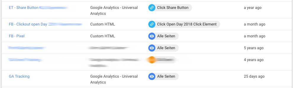 Facebook-Pixel im Google Tag Manager