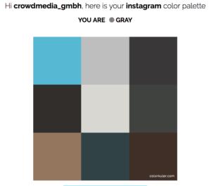 Farben auf Instagram