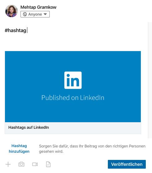 Wie nutze ich Hashtags in LinkedIn Artikel?