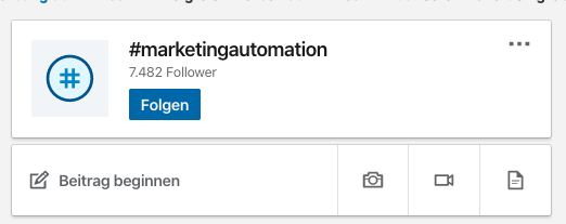Wie sehe ich die Anzahl der Follower von LinkedIn Hashtags?