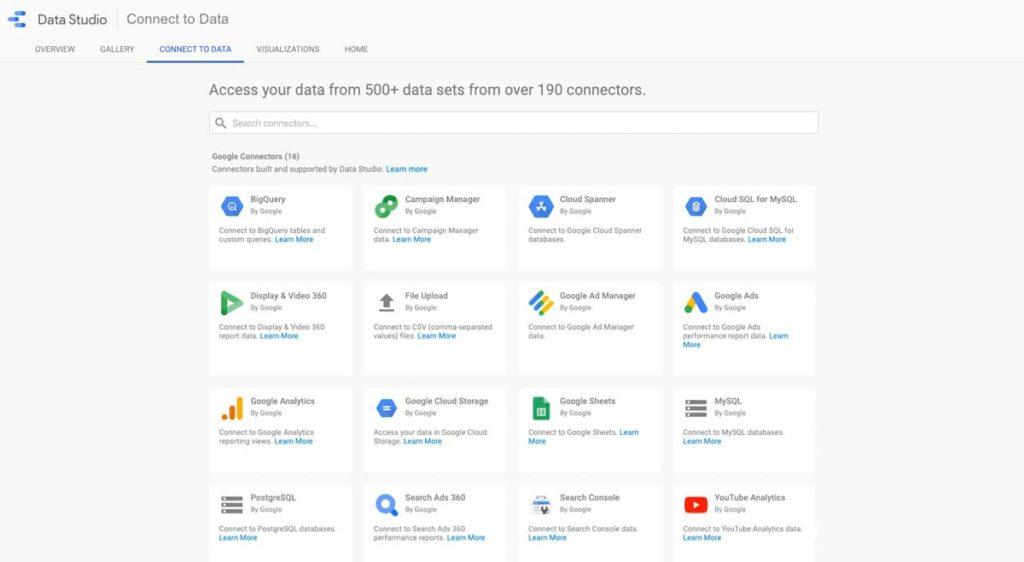 Google Datastudio Connectoren