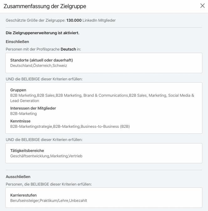 LinkedIn-Zielgruppen-Targeting
