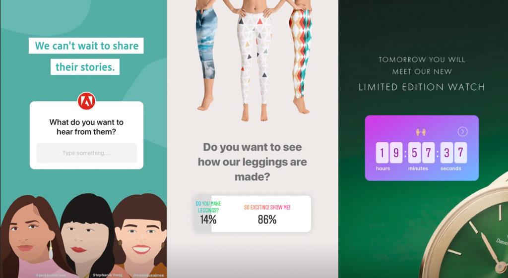 Beispiele für die Nutzung der Sticker-Funktion in Instagram-Stories