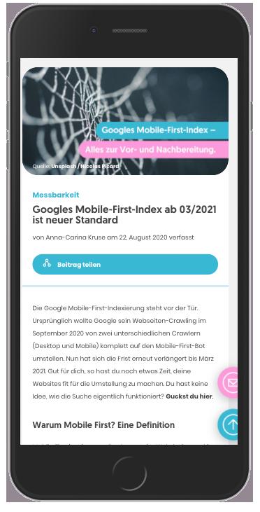 Googles Mobile-First-Ansatz: Responsive Designs bilden die Basis.