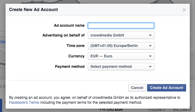 Business Manager how to create new ad account