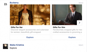 Burberry Chatbots Facebook