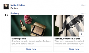 Burberry Chatbots Facebook