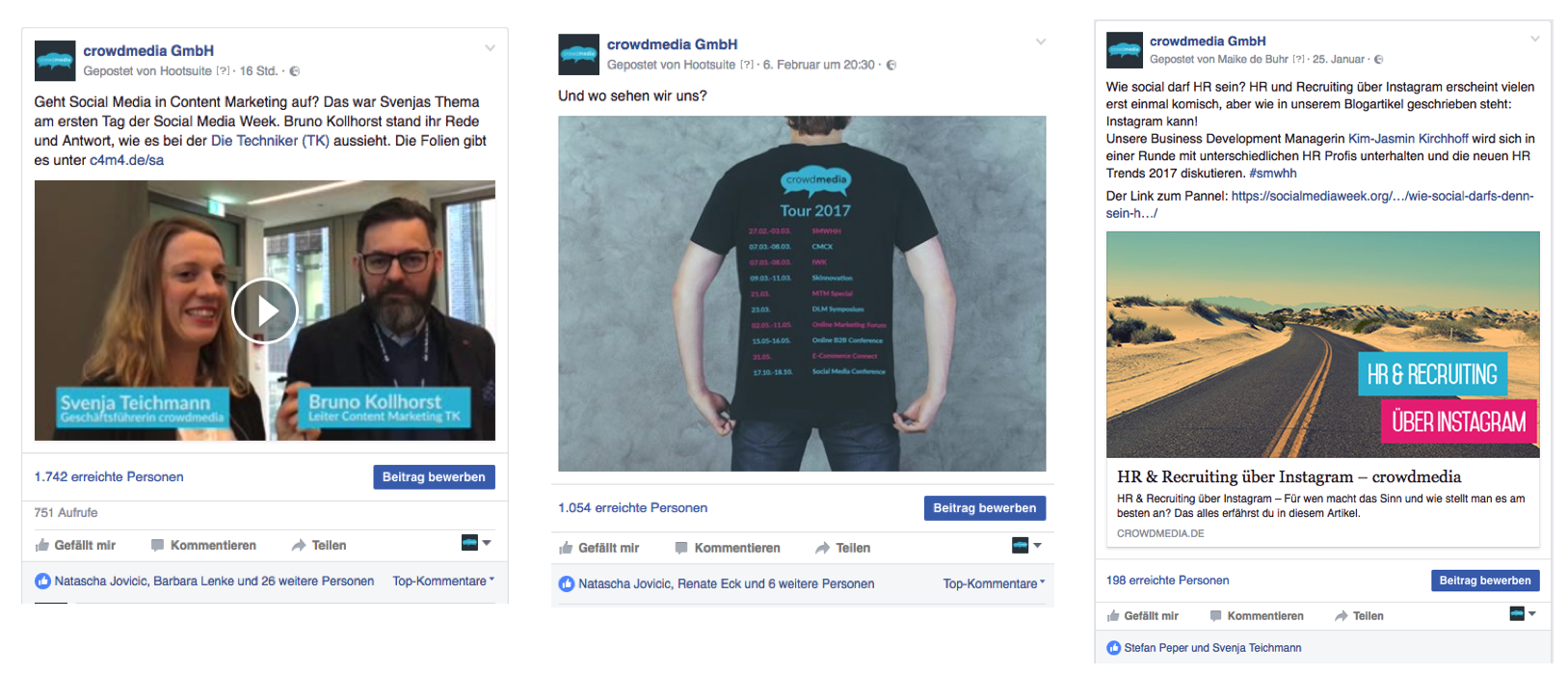 Facebook Posting-Formate