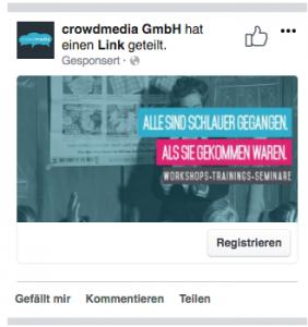 Facebook-Werbeanzeige