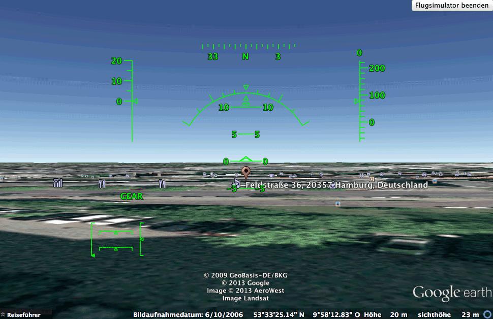 Google Earth Flugsimulator
