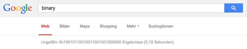 Google binary