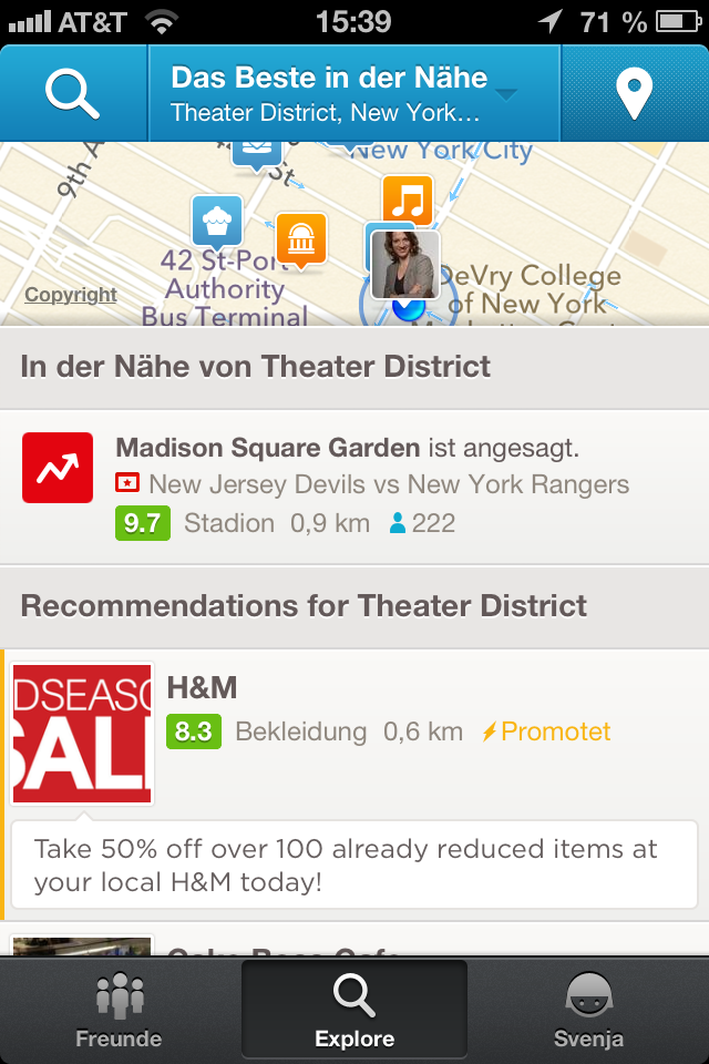 Foursquare Check-Ins Madison Square Garden