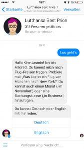 Lufthansa Chatbot