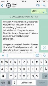 Chatbot Deutsches Historisches Museum
