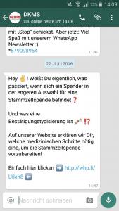 Social media Trends - Whatsapp Newsletter DKMS