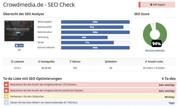 Tools Suchmaschinenoptimierung – Seobility für Onpage-Seo
