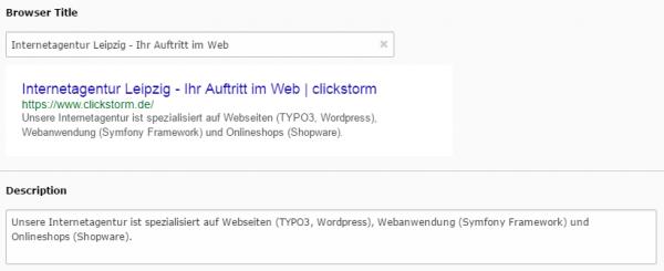 SEO-Plugins für TYPO3: clickstorm
