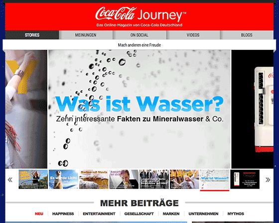 Content Marketing KMU - Vorbild Coca Cola?