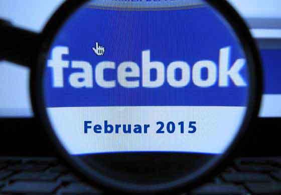 Facebook Updates Februar 2015