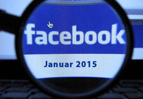 Facebook Updates Januar 2015