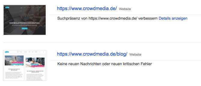 Kennzahlen Content Marketing – Search Console