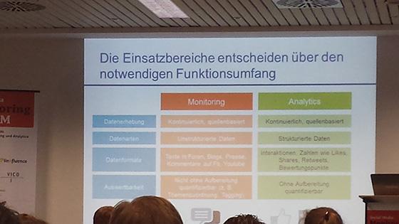 Tipps zur Auswahl von Monitoring Tools auf dem Social Media Monitoring Forum 2013