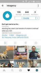 Instagram Unternehmensprofil