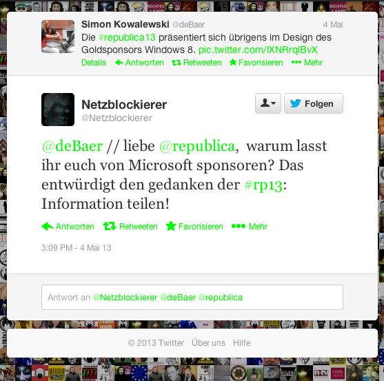 Kritik an der re:publica