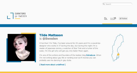 Twitter BestCase @sweden, das Profil von Tilda