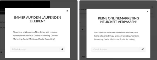 Mehr Conversions durch A/B-Tests